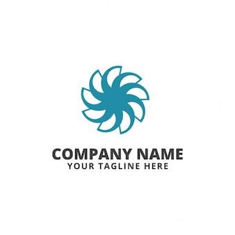 Blue flower logo