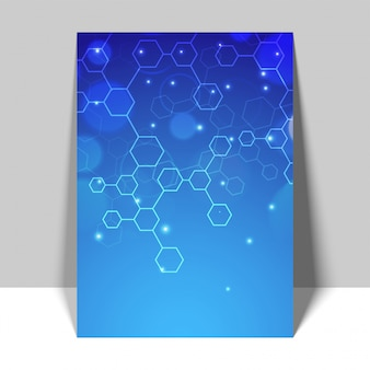 Blue Flyer, Template with molecule structure.