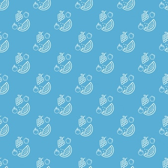Blue frutal pattern design