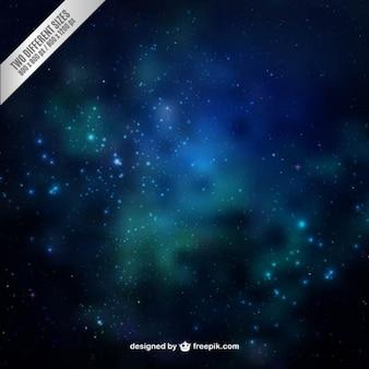 Blue galaxy background