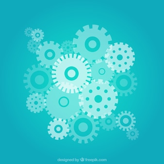 Blue gears background