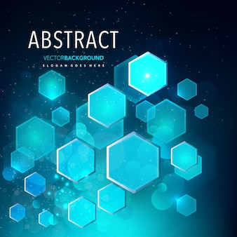 Blue geometric abstract shape background