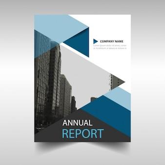 Blue geometric annual report template