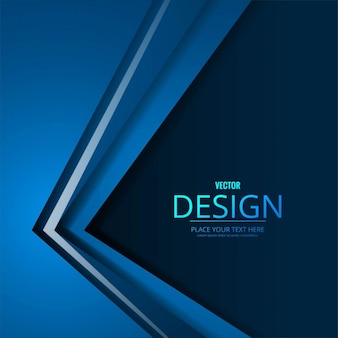 Blue geometric background with 3d shapes