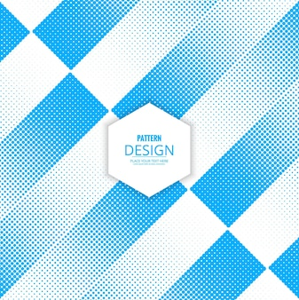 Blue geometric background with halftone dots