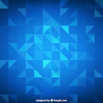ブルー幾何学的な背景