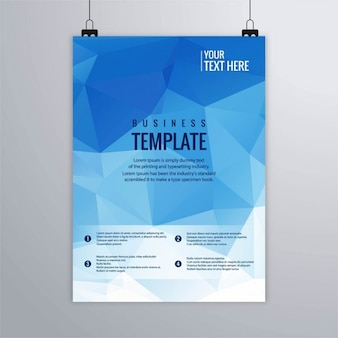 Blue geometric brochure