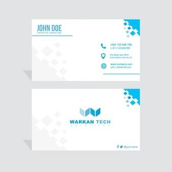 Blue geometric business card
