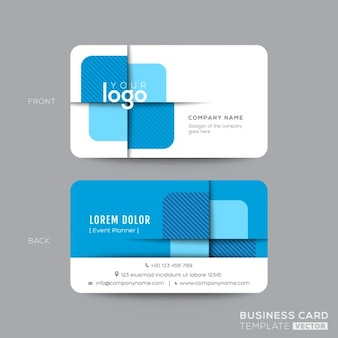 Blue geometric business card