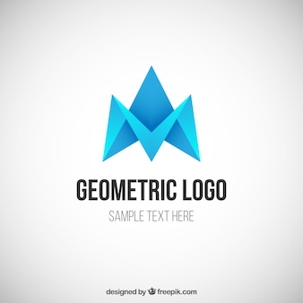 Blue geometric logo