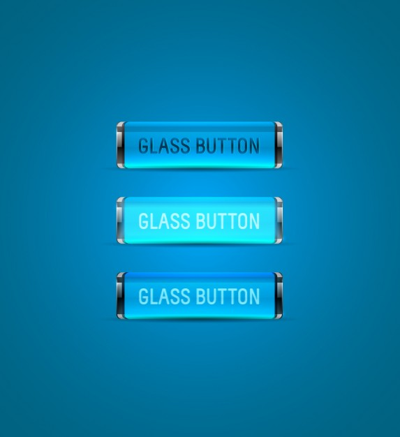 Blue glass buttons collection