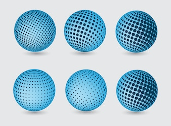 Blue globes collection