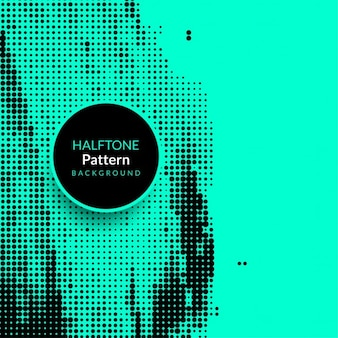 Blue grunge background with halftone dots