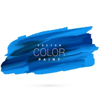 blue hand paint stain vector design
