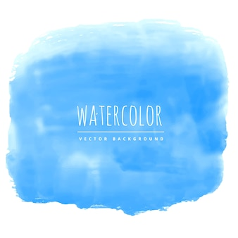 Blue hand painted watercolor stain background