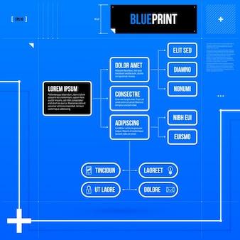 Blue Infographic Scheme Template
