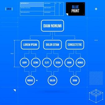 Blue Infographic Scheme