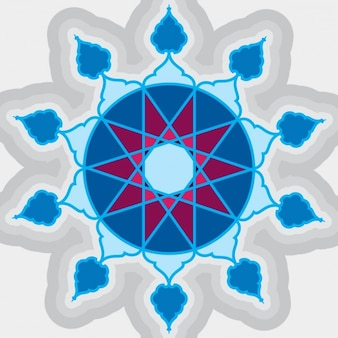 Blue Islamic Ornament