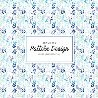Blue leaves pattern background