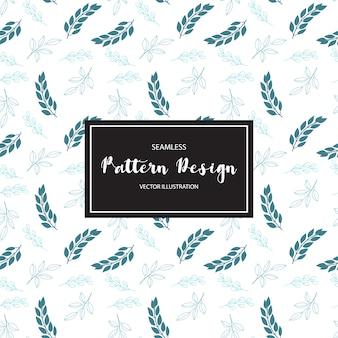 Blue leaves pattern background