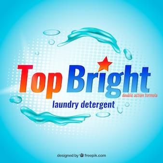 Blue liquid detergent background