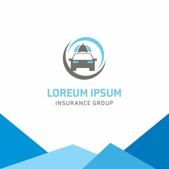 Blue logo, insurance, car