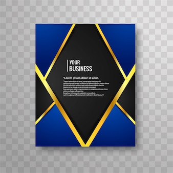 Blue luxury business brochure design