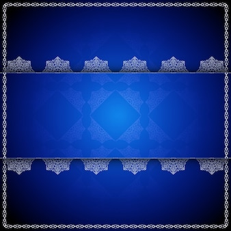Blue luxury mandala background