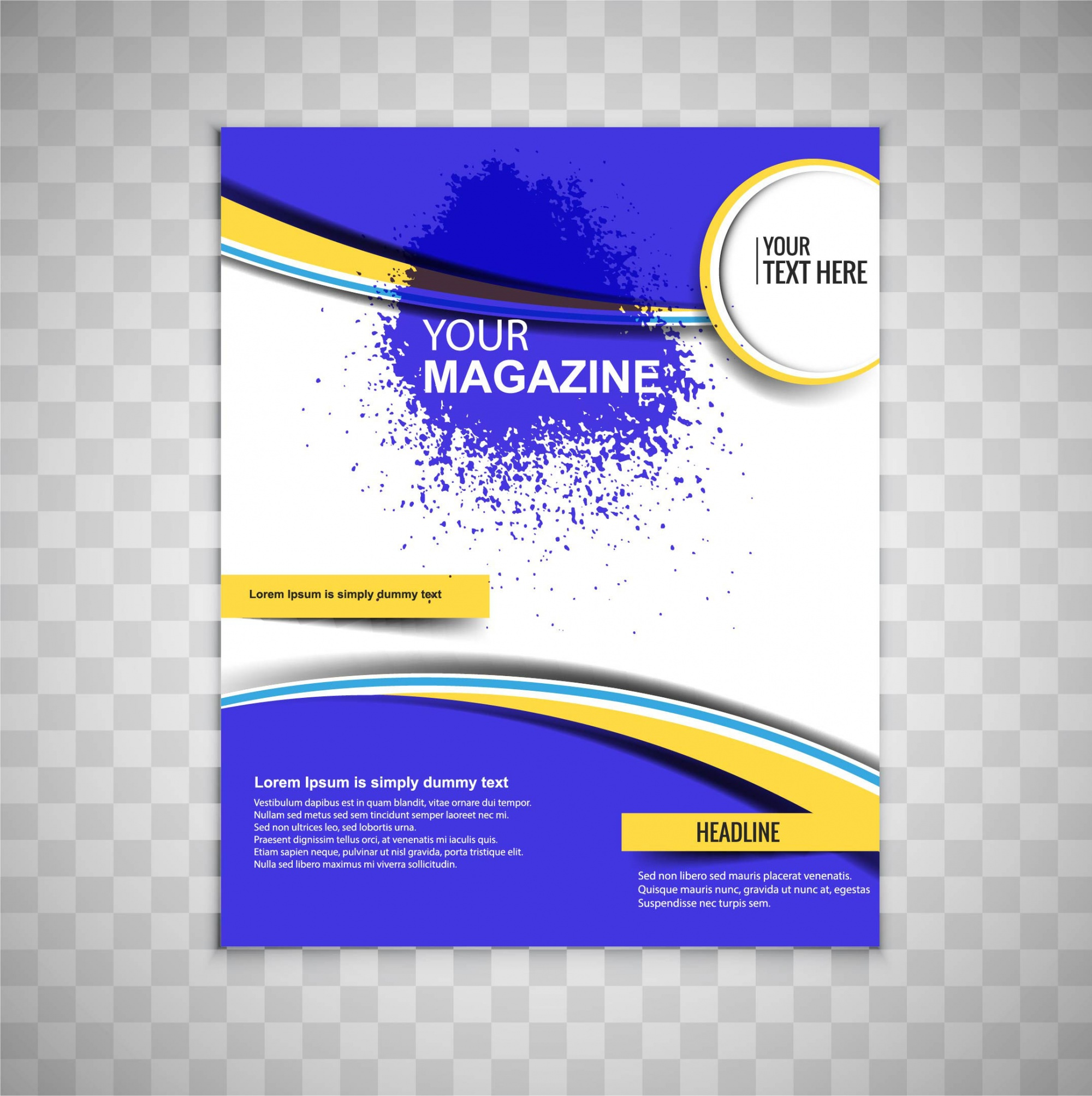 Blue magazine brochure design