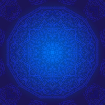 Blue mandala background