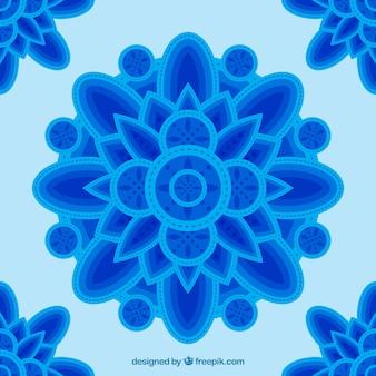 Blue mandala background