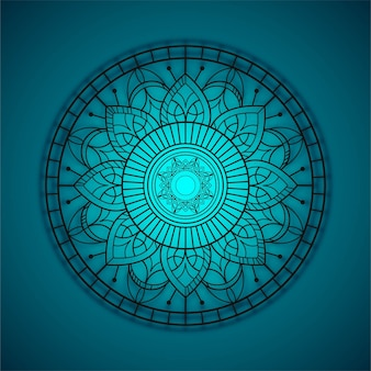 Blue mandala backgrpound