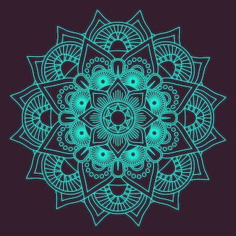 Blue mandala design
