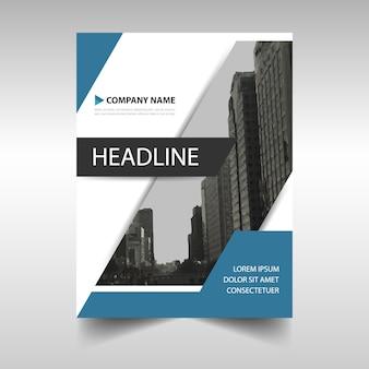 Blue modern brochure