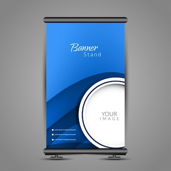 Blue modern roll up template