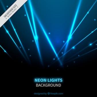 Blue neon lights background