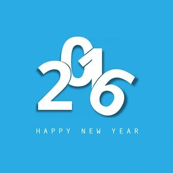 Blue new year 2016 card