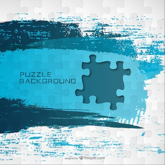Blue paint puzzle vector