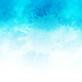Blue painted watercolor background