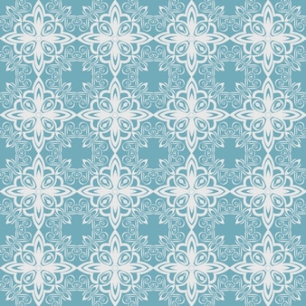 Blue pattern made of vintage shapes