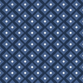 Blue pattern with dots and squares