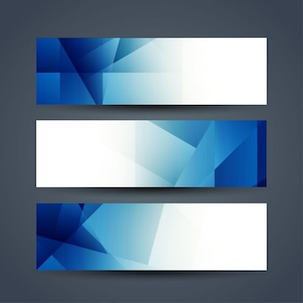 Blue polygon banners