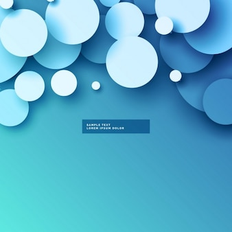 Blue polygonal background with circles