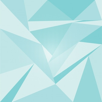 Blue polygonal background with dots