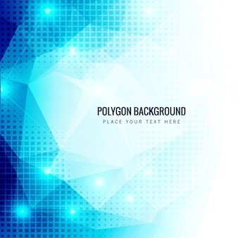 Blue polygonal background with little squares
