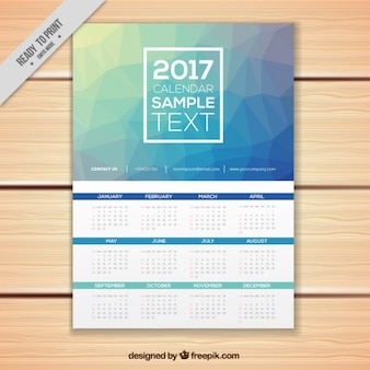 Blue polygonal calendar