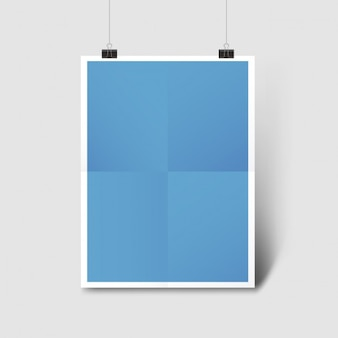 Blue poster template