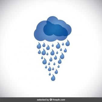 Blue raining cloud