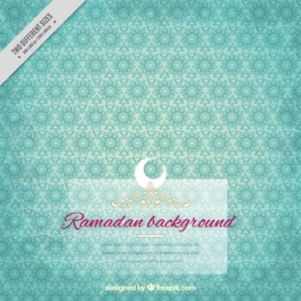 Blue ramadan background with ornaments