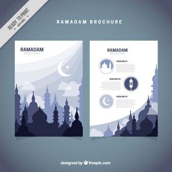 Blue ramadan brochure